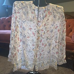 Women's Lucky Brand Floral Blouse